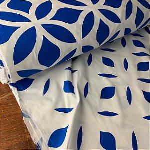 Percal 150 Fios Estampado Natureza Azul