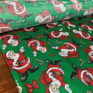 Gorgurinho Estampado Papai Noel Verde