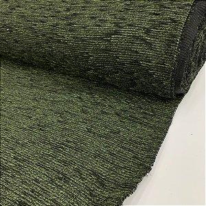 Chenille Liso Verde Escuro