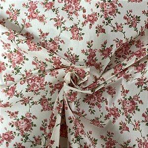 Tricoline Floral Fundo Claro