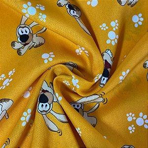 Oxford Estampado Pet Fundo Amarelo