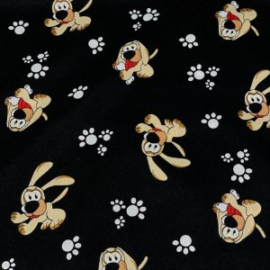 Oxford Estampado Pet Cachorro Preto