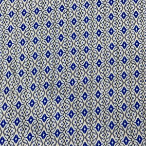 Viscose Estampada Com Azul Miudo