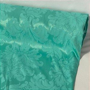 Tecido Jacquard Arabesco Verde Tiffany