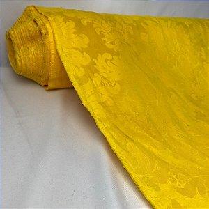 Tecido Jacquard Arabesco Amarelo