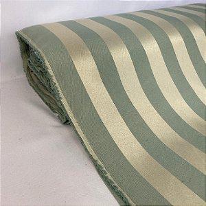 Tecido Jacquard Listrado Verde