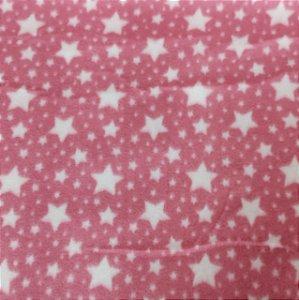 Soft Estampado Estrelas Rosa e Branco