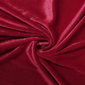 Veludo Liso Vermelho Rubi
