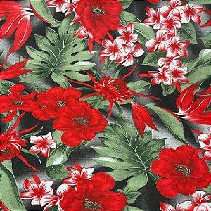 Gorgurão Impermeável Com Estampa Floral