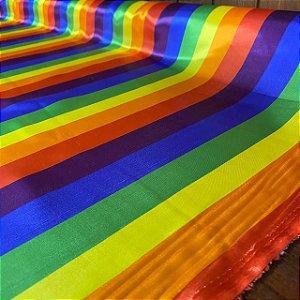 Cetim Estampado Bandeira Gay
