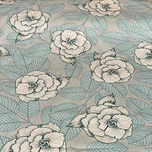 Percal Estampado Floral Lavanda Claro