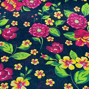 Chitão Estampado Jardim de Flores