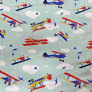 Tricoline Estampado De Avião