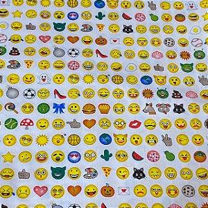 Tricoline Estampada de Emojis