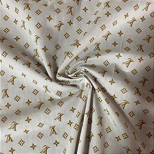 Tricoline Digital Louis Vuitton Fundo Branco