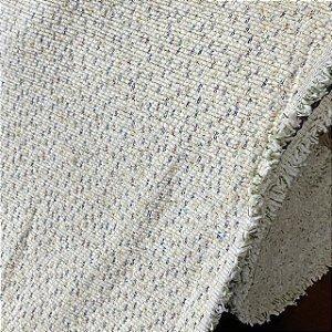 Chenille Estampado Multicolor Fundo Branco