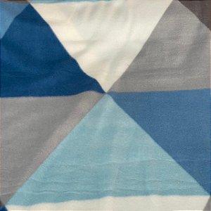 Soft Estampa Geométrica Azul