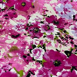 Cambraia Estampada com Flores