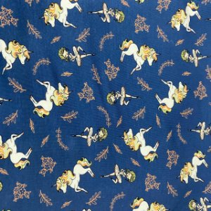 Malha Cotton Light Unicórnio Fundo  Azul