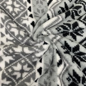 Mantinha Fleece Estampada Geométrica