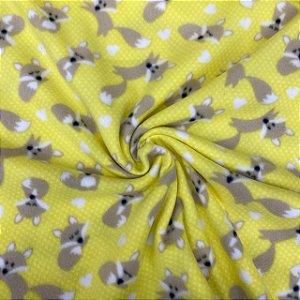 Soft Estampado Raposinha Amarelo