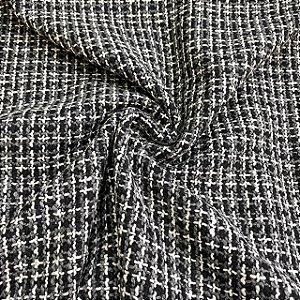 Lã Tweed Mescla Preta