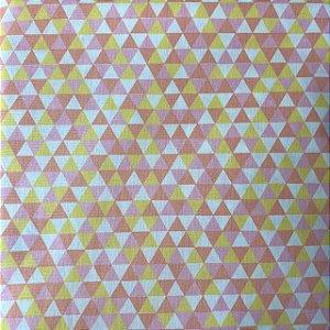 Tricoline Estampada Triângulos