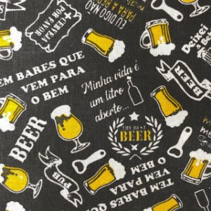 Tricoline Estampada Cerveja