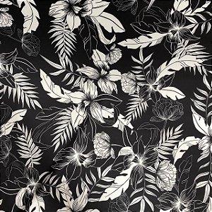 Neoprene Floral Havaiana em Contraste