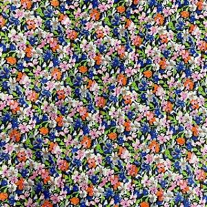 Cambraia Estampada Cores e Flores
