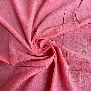 Crepe de Algodão Rosa Chiclete