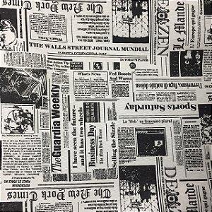 Gorgurão Belize Estampado Jornal