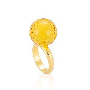 Anel Bubble Bouquet Ouro Cristal Girassol