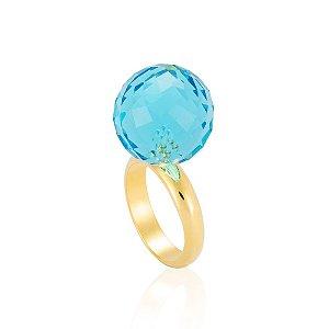 Anel Bubble Bouquet Ouro Cristal Hortênsia