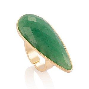 Anel Filodentro 414 Ouro Quartzo Verde