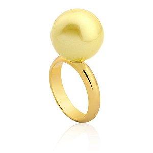 Anel Bubbles Ouro Shell Amarela