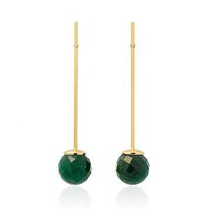 Brinco Bubbles 672 Ouro Quartzo Verde