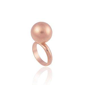 Anel Bubbles Ouro Rosé Escovado