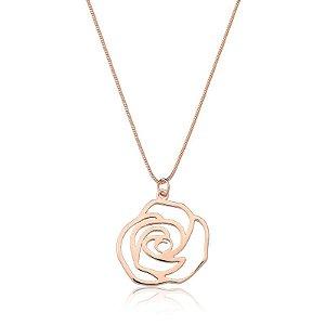 Pingente Rosa Ouro Rosé