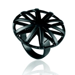 Anel Delaunay 361 Ródio Negro