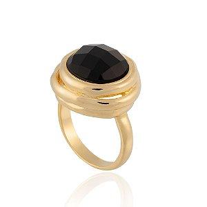 Anel Delaunay 353 Ouro Quartzo Negro