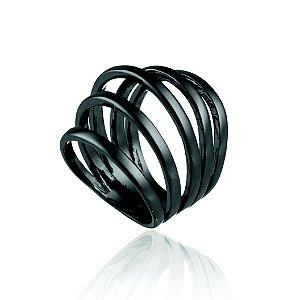 Anel Delaunay 355 Ródio Negro