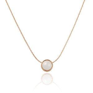 Pingente Bubbles 260 Ouro Rosé Shell Branca