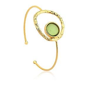 Pulseira Deserto 307 Ouro Prasiolita Verde
