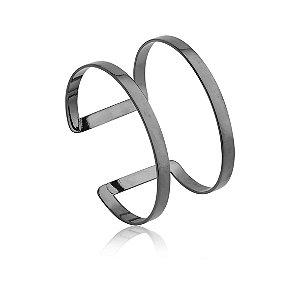Bracelete Essencial 269 Ródio Negro Polido Pequeno