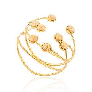 Bracelete Essencial 282 Ouro Amazonita Nude