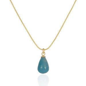 Pingente Candy 323 Ouro Quartzo Azul