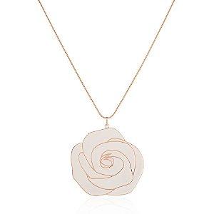Pingente Misticismo Rosa Ouro Rose