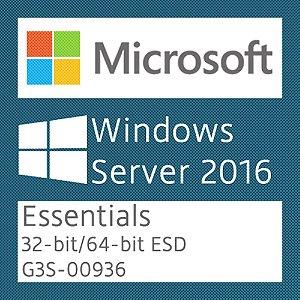 Microsoft Windows Server 2016 Essentials - Licença + NF-e