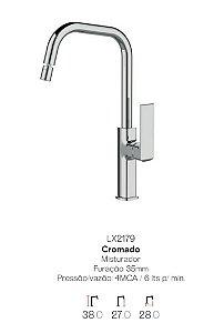 Misturador monocomando Bica móvel para Cozinha LX2179 - Lexxa